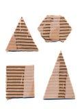Formulários ondulados do papel do pacote isolados no branco Foto de Stock Royalty Free