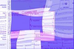Formulários variados do sumário 1099 Imagens de Stock