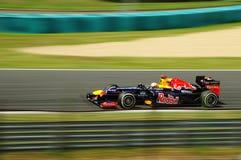 Formula 1. Sebastian Vettel in Hugarian Formula1 Grandprix royalty free stock photography