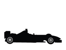 Formula 1. Silhouette a formula 1, vector illustration Royalty Free Stock Images