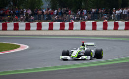 Formula 1: Brawn GP. Montmelo, Spain - May 10: Formula 1 team BrawnGP participates in the Spanish Grand Prix at the Circuit de Catalunya on May 10, 2009. Rubens stock images