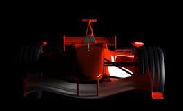 Formula 1 Car. Isolated on Black Background Royalty Free Stock Photo