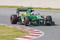 Formula 1 Caterham - Van der Garde Royalty Free Stock Image