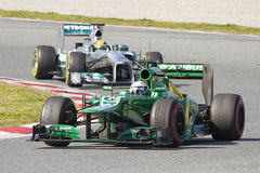 Formula 1 Caterham - Van der Garde Stock Photo