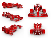 Formula 1 concept SET 2 Royalty Free Stock Photos