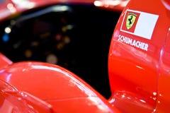Formula 1 dell'automobile sportiva del Ferrari in museo Ferrari Fotografia Stock Libera da Diritti