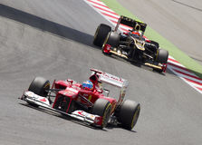 Formula 1 GP race - Fernando Alonso Royalty Free Stock Image