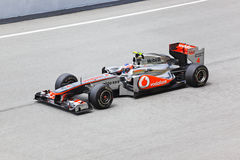 Formula 1, Jenson Button, team McLaren Mercedes Royalty Free Stock Image