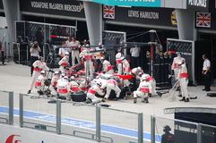 Formula 1 Malaysian Grand Prix Sepang 2010 Stock Photography
