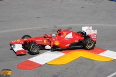 Formula 1 Monaco grande Prix Alonso fotografie stock libere da diritti