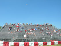 Formula 1 race in montreal canada. Fans watching formula 1 race in montreal canada Royalty Free Stock Photos