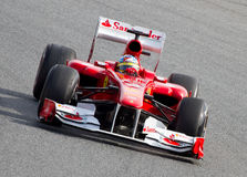 Formula 1 racing (Spanish Grand Prix) Royalty Free Stock Photos