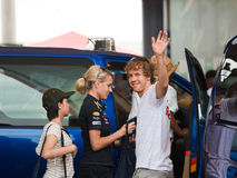 Formula 1, Sebastian Vettel, team Red Bull Racing Royalty Free Stock Photo