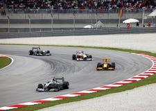 Formula 1. Sepang. April 2010 royalty free stock photos
