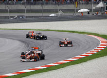 Formula 1. Sepang. April 2010 stock photo