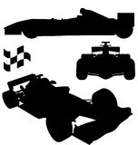 Formula 1 silhouettes Stock Photo