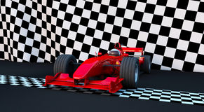 Formula 1 Sport car. In the winner position Stock Photography