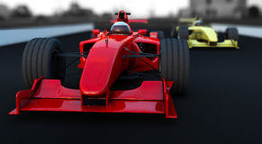 Formula 1 Sport car red and yellow Royalty Free Stock Images