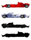 Formula 1 Sport Cars. Set of Formula 1 Sport Cars royalty free illustration