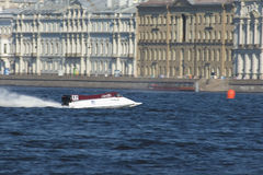 Formula 1 on water. GP Russia Royalty Free Stock Photo
