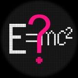 Formula. Icon on Black Background Stock Photography