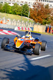 Formula 3 race around the Parliament House. BUCHAREST, ROMANIA - AUGUST 23: Formula 3 race around the Parliament House at Bucharest City Challenge August 23 Stock Photography