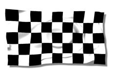 Formula. Black flag on the wind Stock Photo