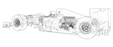 Formula 1. Abstract drawing. Wire-frame. EPS10 format. Vector created of 3d. Royalty Free Stock Photos