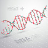 Formula astratta del DNA di vettore Priorità bassa medica di sanità Fotografia Stock Libera da Diritti