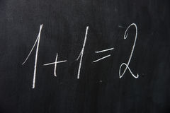 Formula on blackboard Royalty Free Stock Photo