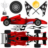 Formula car and objects vector Stock Photos