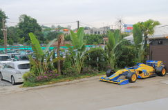 Formula 1 car parking Hong Kong Royalty Free Stock Image
