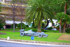 Formula 1 car sculpture ,Monaco Royalty Free Stock Image
