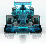 Formula car technology wireframe sketch front view Royalty Free Stock Photos