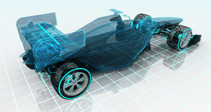 Free Formula Car Technology Wireframe Sketch Upper Back View Stock Photos - 56378633
