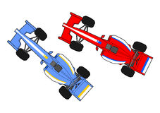 Formula cars running Stock Photos