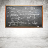 Formula on chalk board Royalty Free Stock Images