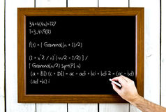 Formula on a chalkboard Royalty Free Stock Photography