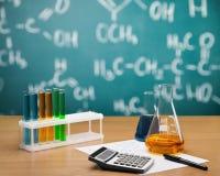 Formula. Chemistry reagents preparation liquid tool bulb Royalty Free Stock Images
