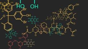 Formula chimica che consiste degli anelli benzenici 4K stock footage