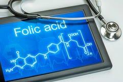 Formula chimica di acido folico Fotografia Stock