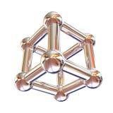 Formula chimica e modello strutturali della molecola, oggetto 3d malato illustrazione di stock
