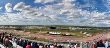 Formula 1 @ Circuit of the Americas 2017. View of the Circuit of the Americas located in Austin, Texas during the 2017 Formula 1 United States Grand Prix royalty free stock photos