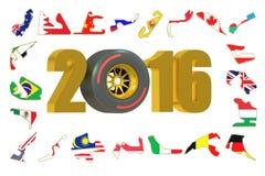 Formula 1 2016 concept Stock Images