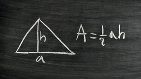 Formula di area del triangolo Fotografia Stock