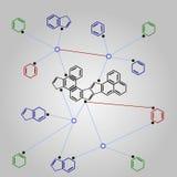 Formula di chimica organica Fotografia Stock Libera da Diritti