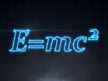 Formula di Einstein - teoria della relatività E=mc2 illustrazione di stock