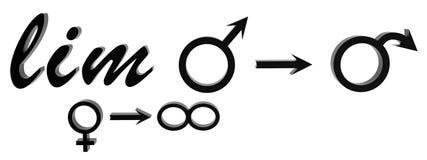 Formula di matematica dei rapporti sessuali Fotografie Stock