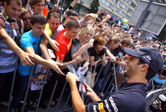 Formula 1 driver Daniel Ricciardo of Red Bull Racing Team Stock Images