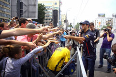 Formula 1 driver Daniel Ricciardo of Red Bull Racing Team Royalty Free Stock Photos